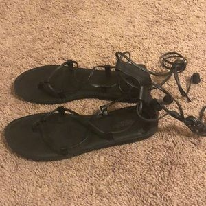 American Eagle Ankle Wrap Sandals